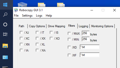 robocopy missing MAXAGE switch