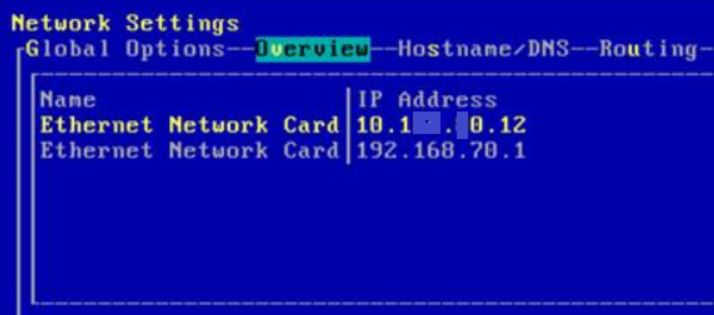 Linux Network card setting