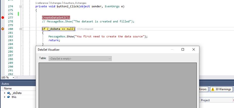 Dataset Empty  Why ??