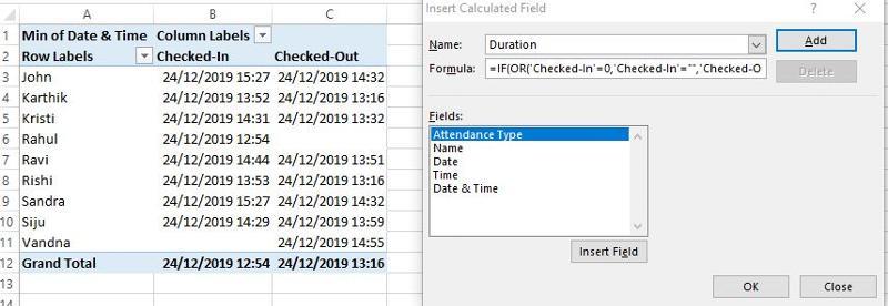 Adding Calculated Field