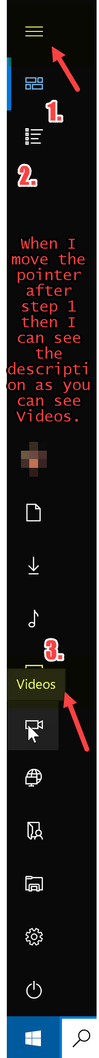 Start Menu-Videos Description Appearing.jpg
