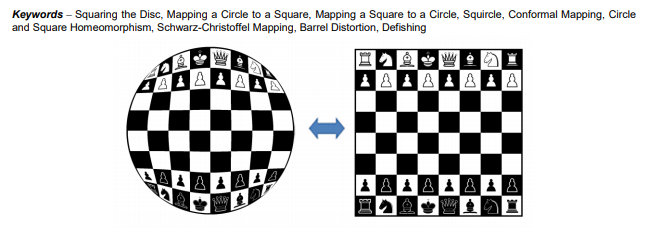 Chess board mapped to a circle